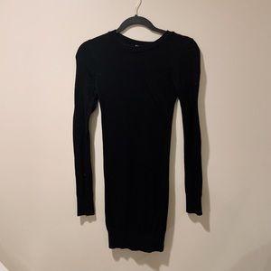 American Apparel Black Knit Bodycon Dress size XS